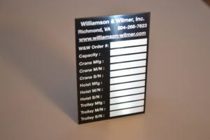 Custom Aluminum Identification Plates & Tags