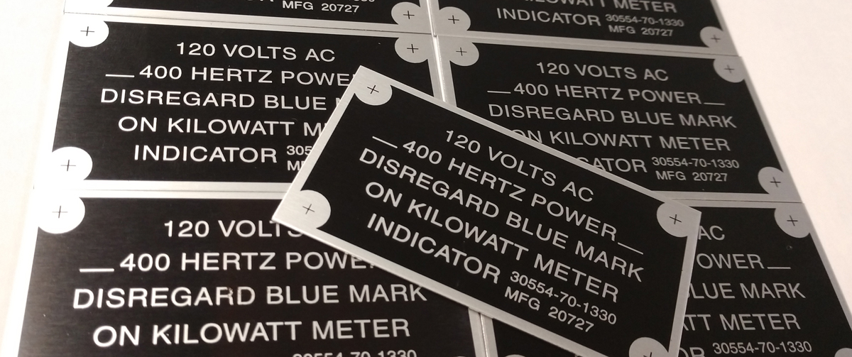 Custom Printed Data Plates